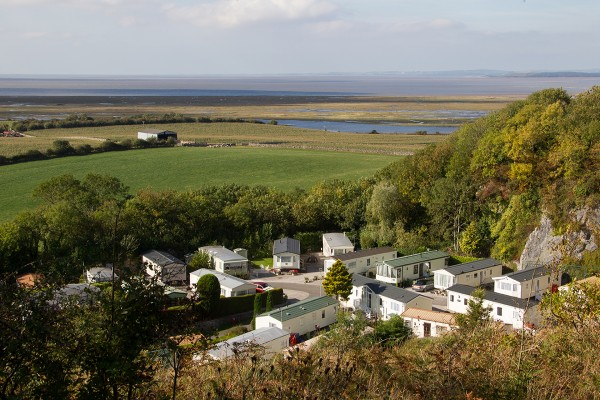 scout cragg holiday park aerial view