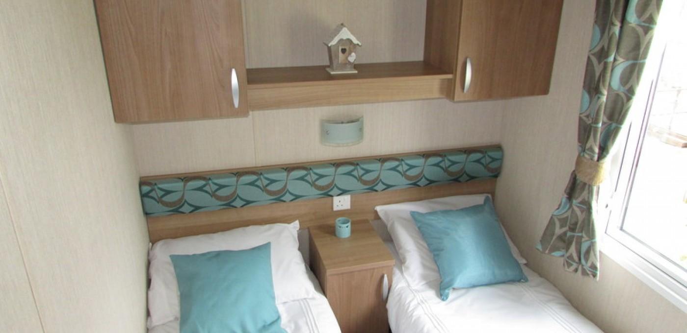 2012 Swift Bordeaux twin bedroom