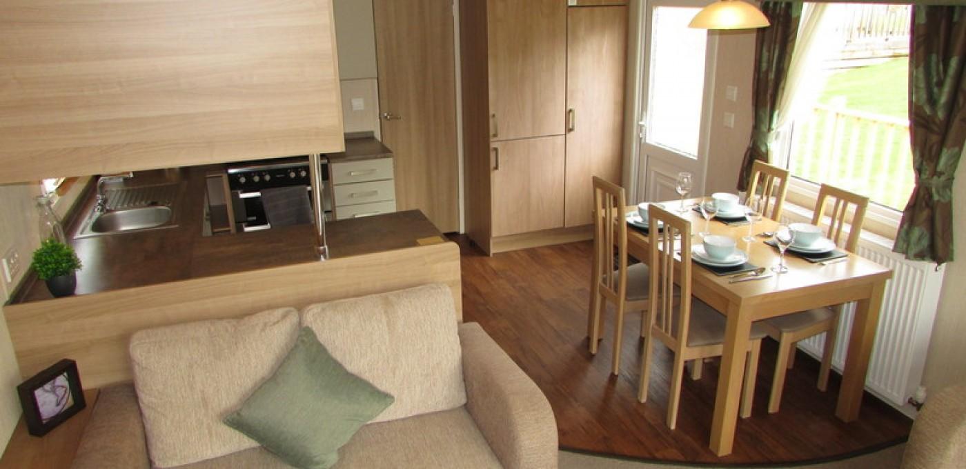 2012 Swift Bordeaux static caravan kitchen