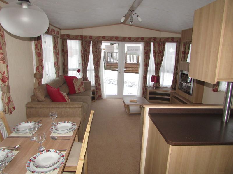 2012 Abi Derwent static caravan kitchen diner