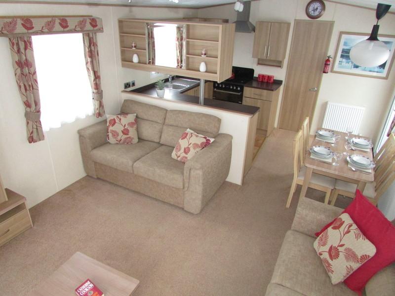 2012 Abi Derwent static caravan living area