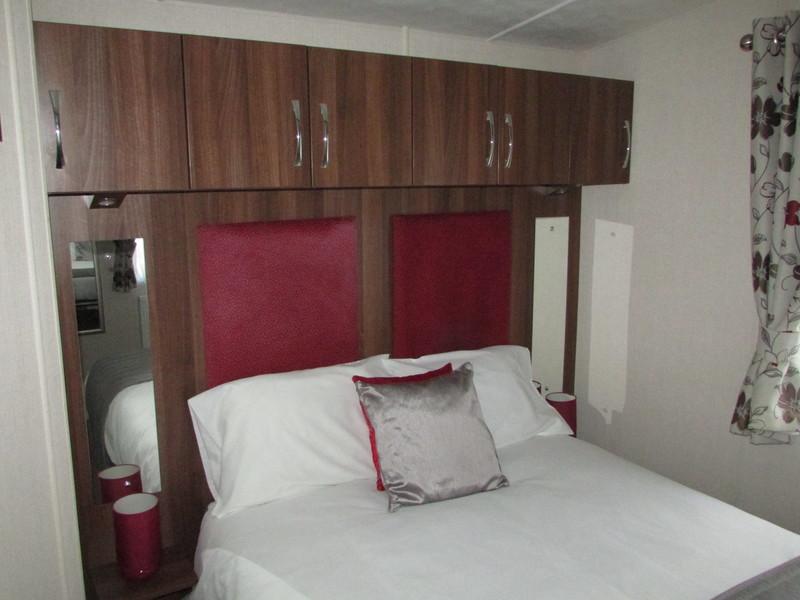 2017 Victory Grovewood static caravan master bedroom