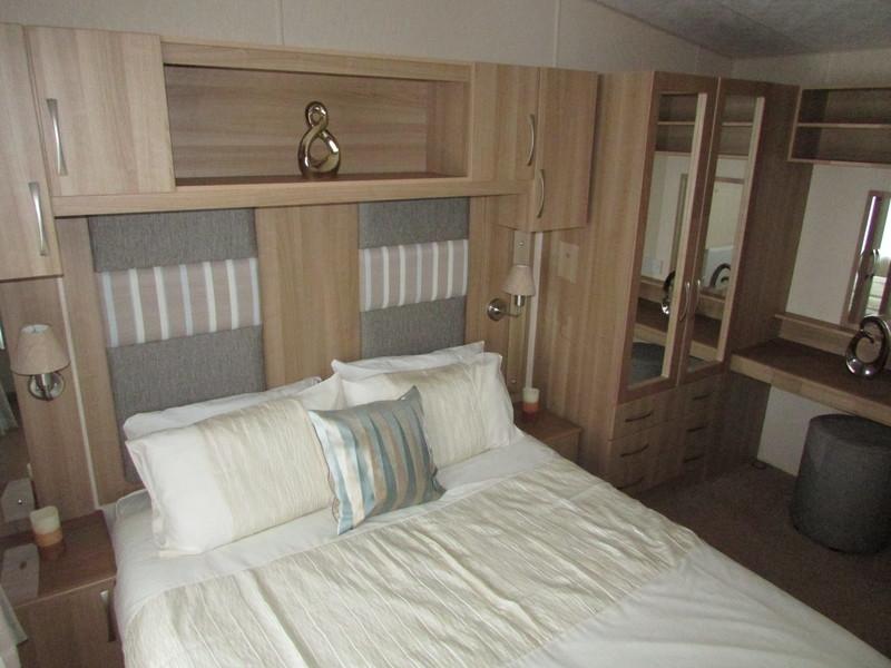 2012 Abi Derwent static caravan double bed