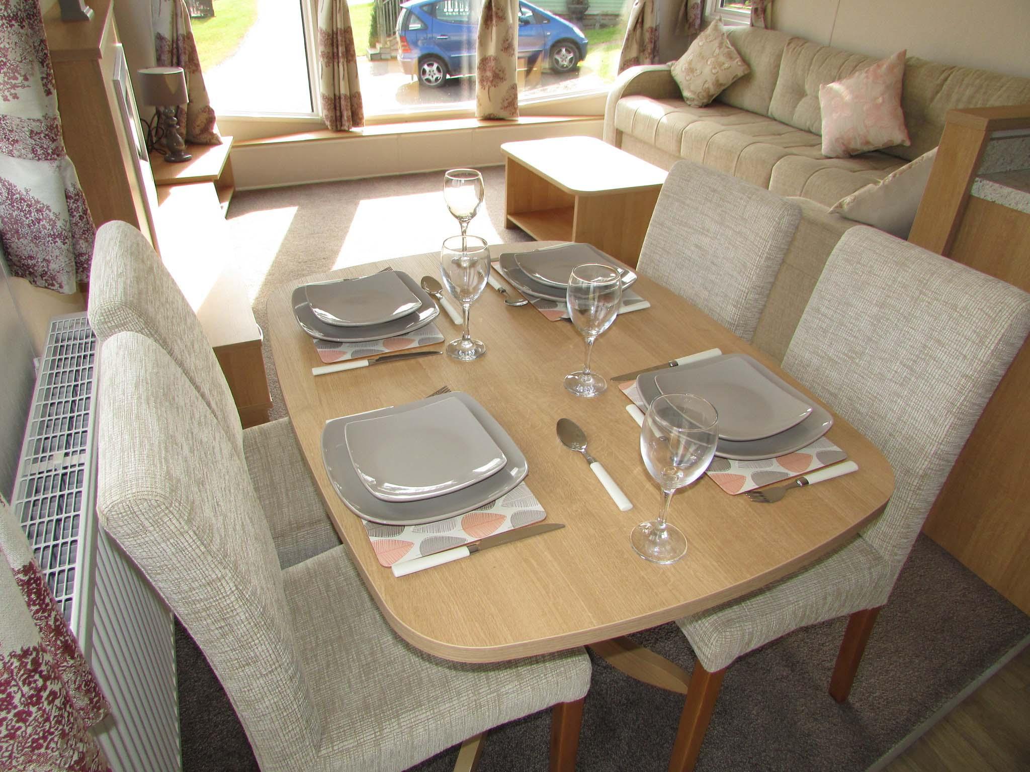 Willerby Sierra 2017 dining table